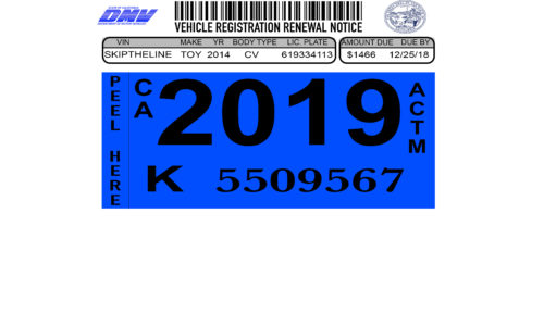 Renew Your Vehicle Registration